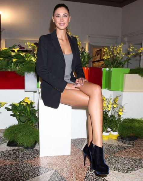 Melissa Satta indossa i tronchetti 2012 di Giuseppe Zanotti