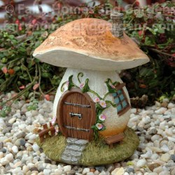 Peachy Hover Over Image To Miniature Mushroom Collection Fairy Miniatures Fairy Garden House Mushroom Fairy Garden Mushroom Fairy Garden House