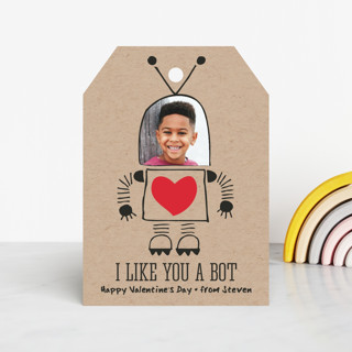 I Like You A Bot Classroom Valentine's Cards
