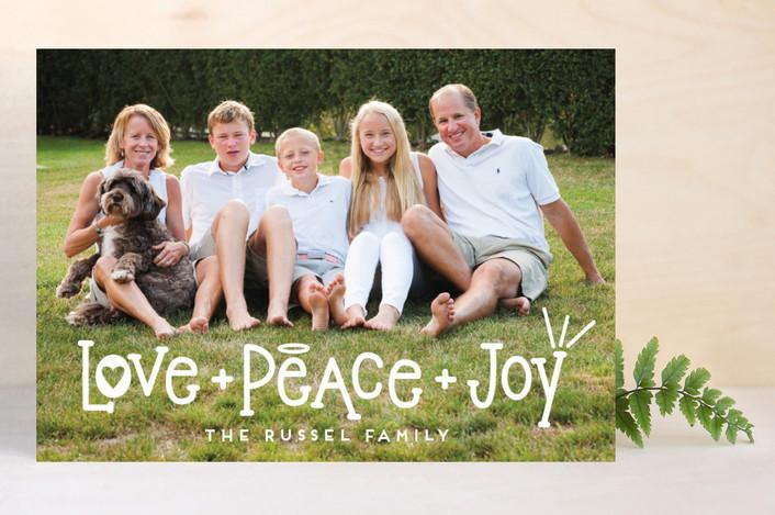 Heart, Halo, Hooray! Christmas Card by Minted.com