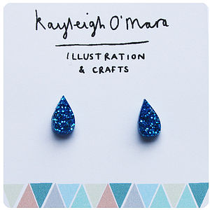 Acrylic Raindrop Earrings