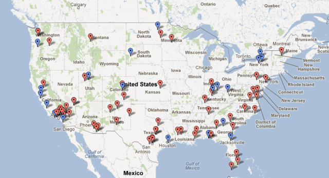 Map Us Navy Bases - Map of us army forts