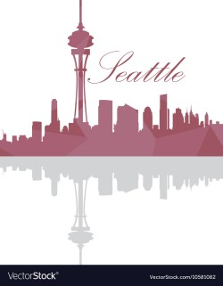 Small Of Seattle Skyline Outline