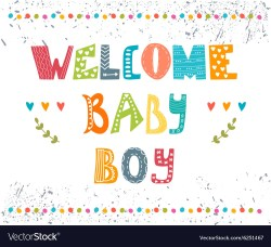 Swish Welcome Baby Boy Baby Boy Arrival Postcard Baby Vector 6251467 Welcome Baby Boy Wishes Welcome Baby Boy Sign