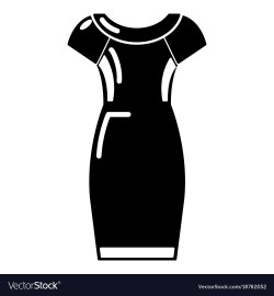 Riveting Dress Icon Black Style Vector Image Dress Icon Black Style Royalty Free Vector Image Black Dresses Women Black Dress Pattern On Wow