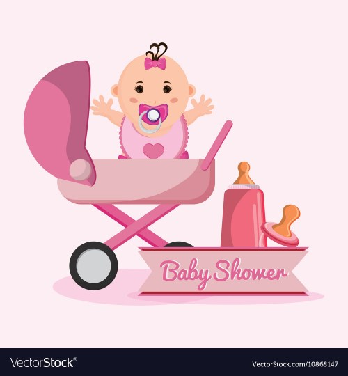 Soothing Baby Shower Concept Vector 10868147 Baby Girl Cartoon Image Baby Girl Cartoon Baby Girl Cartoon
