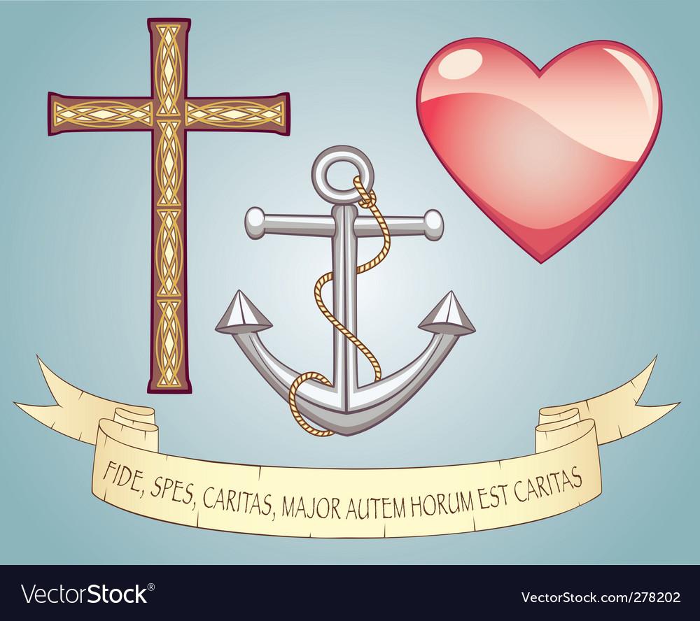 Glomorous Faith Hope Love Vector Image Faith Hope Love Royalty Free Vector Image Vectorstock Faith Hope Love Images Faith Hope Love Sign inspiration Faith Hope Love