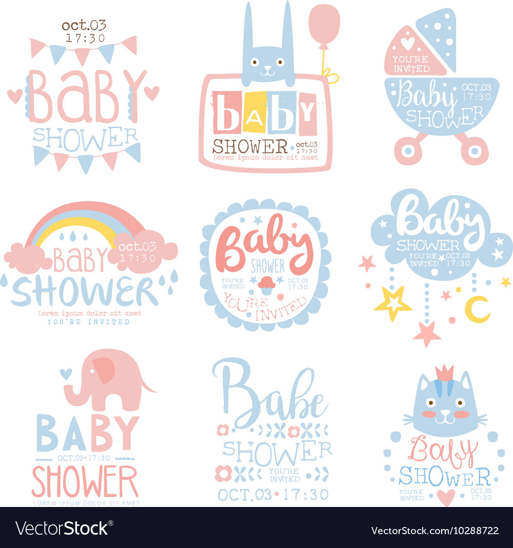 Fascinating Baby Shower Invitation Template Pastel Colors Vector 10288722 Baby Shower Invitation Templates A Boy Free Baby Shower Invitation Templates Photoshop Free wedding invitation Baby Shower Invitation Template