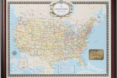 united states traveler push pin map personalized from
