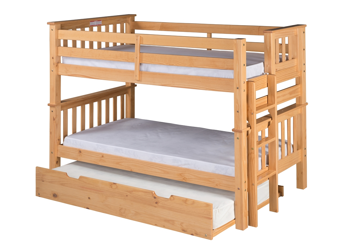 Genial Trundle Santa Fe Mission Low Bunk Bed Twin Over Twin Bed End Ladder Finish Mission Low Bunk Bed Twin Over Twin Bed End Ladder Bunk Bed Drawers Drawers Bunk Bed Trundle Desk houzz-02 Bunk Bed With Trundle