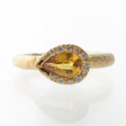 Small Of Yellow Sapphire Ring