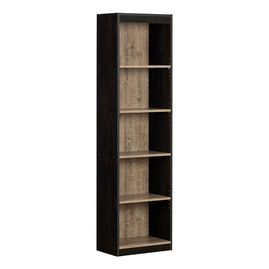 Ritzy Black Wood Finish 2 Shelf Bookcase Wood 2 Shelf Bookcase Cherry Tall Skinny Bookcase Black Wood Finish Tall Skinny Bookcase houzz-02 2 Shelf Bookcase