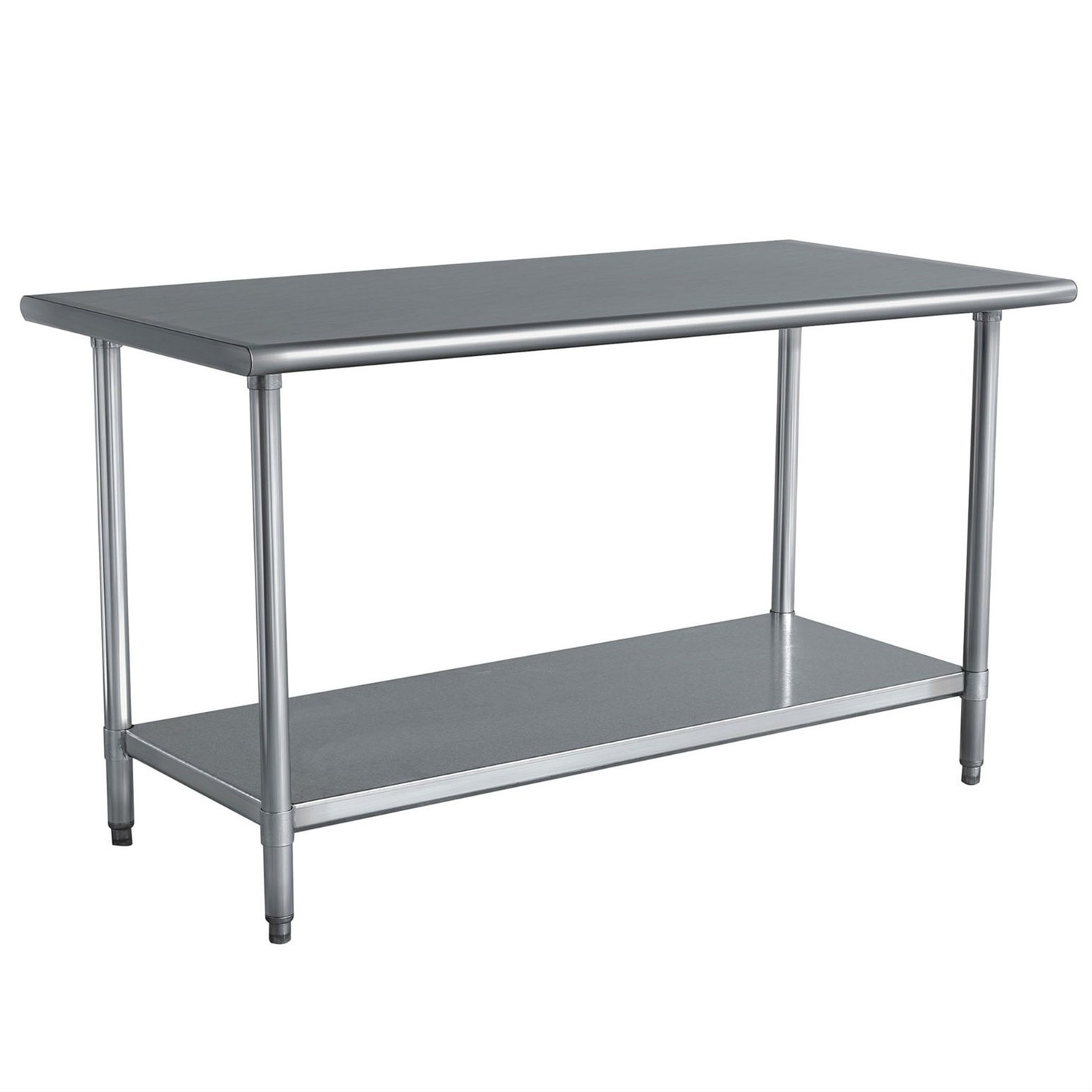 shw kitchen prep tables Stainless Steel Top Utility Table High Top Workbench Prep Table