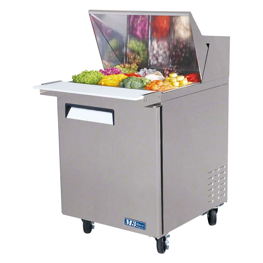 mst 28 12 kitchen prep tables Turbo Air 28 Inch Refrigerated Food Prep Table with 12 1 6