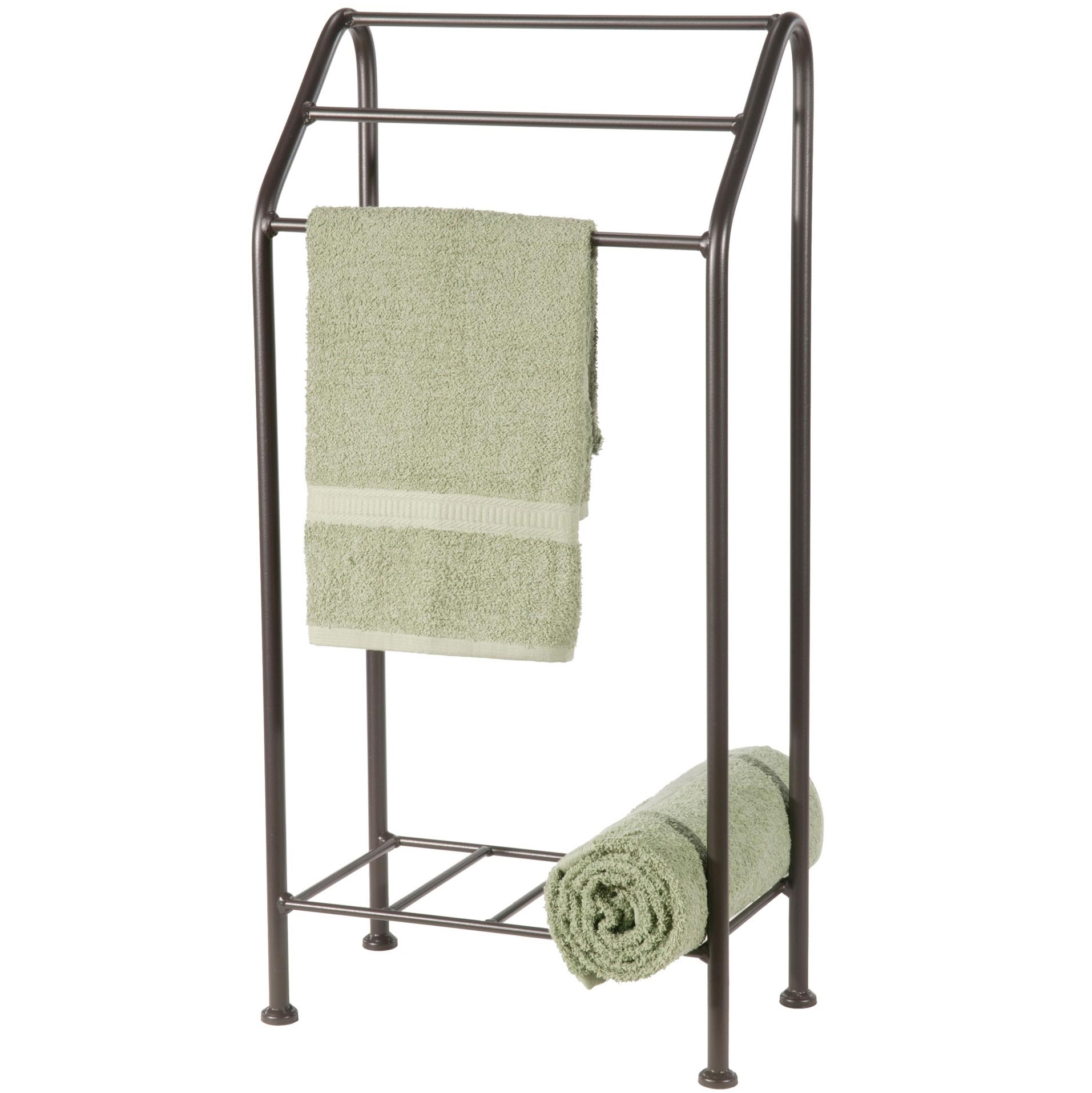 Beauteous Bathroom Larger Photo Free Standing Monticello Wrought Iron Towel Rack Standing Towel Rack Walmart Standing Towel Rack houzz 01 Standing Towel Rack