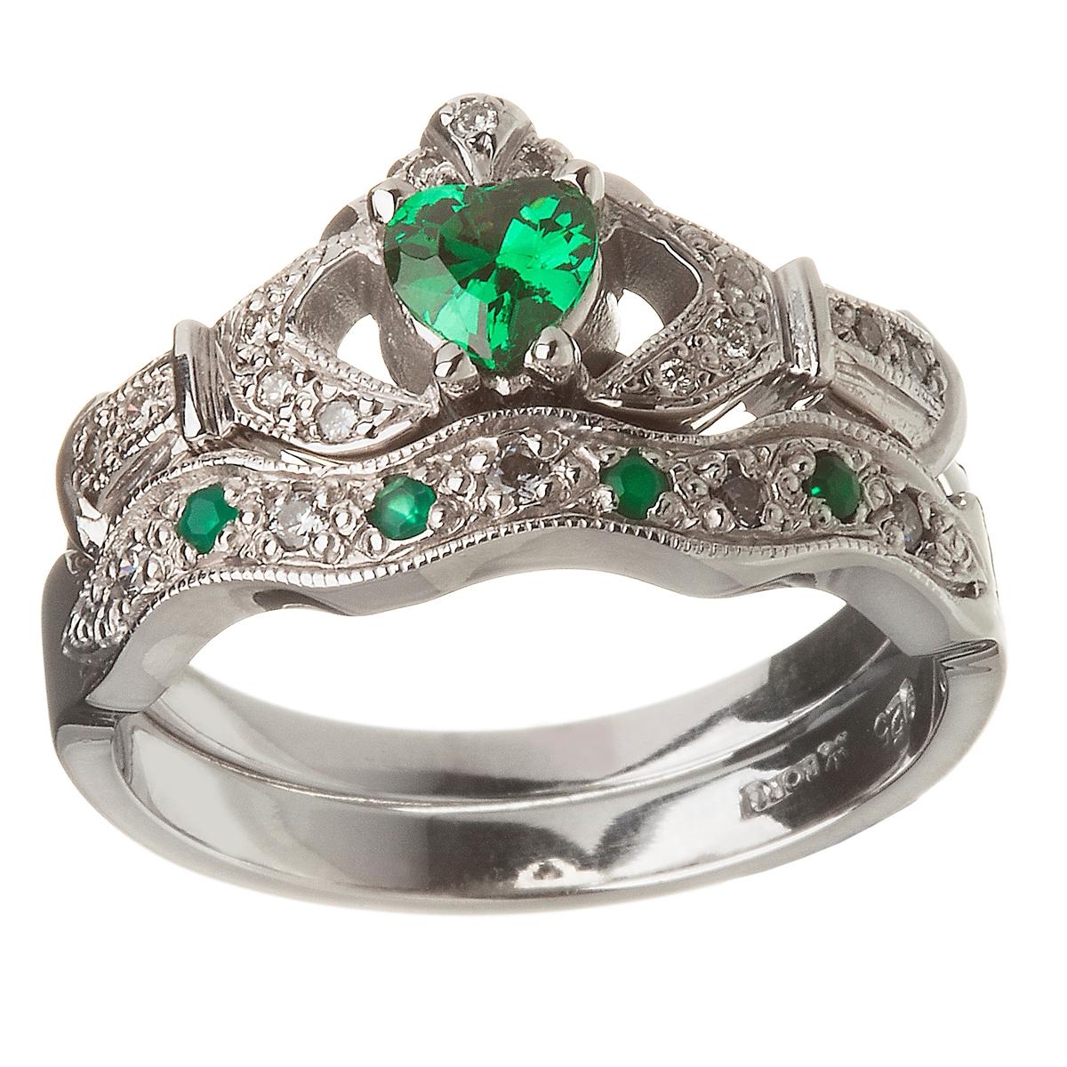 engzkw emerald wedding rings