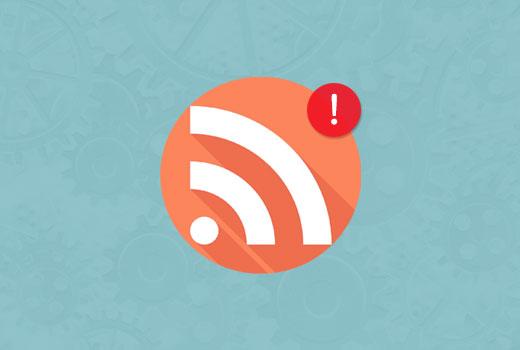 WordPress RSS feed error