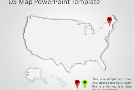 Map Powerpoint - Map of us template