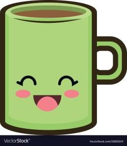 Idyllic Kawaii Cartoon Coffee Mug Vector Image Kawaii Cartoon Coffee Mug Royalty Free Vector Image Coffee Mug Cartoon Tumblr Cartoon Snow Disney Coffee Mugs