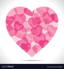 Decent Illustrator Pink Heart Make Big Heart Shape Vector Image Pink Heart Make Big Heart Shape Royalty Free Vector Image How To Make A Heart Envelope How To Make A Heart