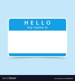 Small Of Hello My Name Is Tag