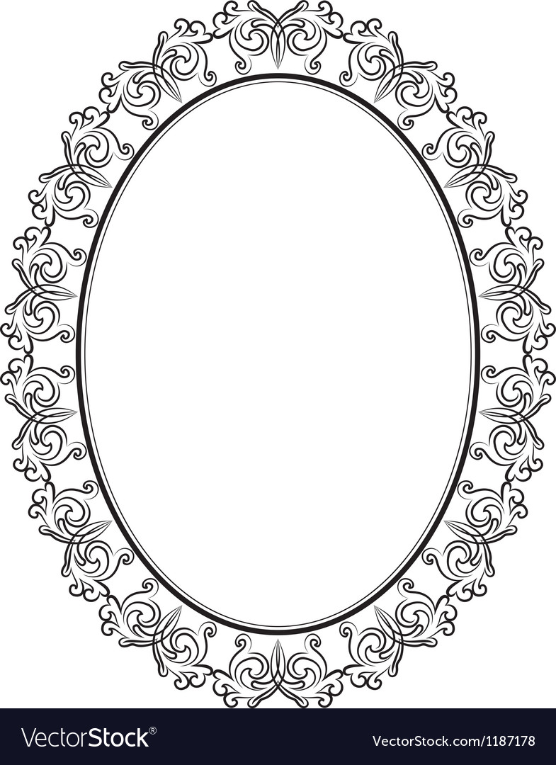 Fullsize Of Oval Picture Frame
