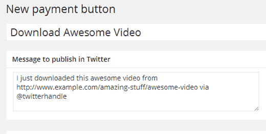 Creating your first pay with a tweet button
