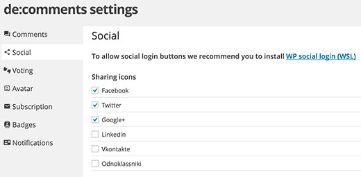Enabling social features for your WordPress comments