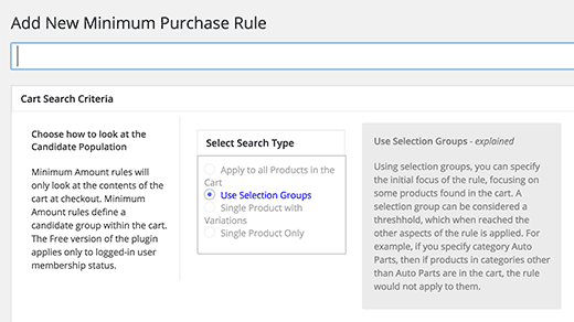 Minimum Purchase for WooCommerce