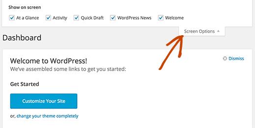 Hide dashboard widgets in WordPress