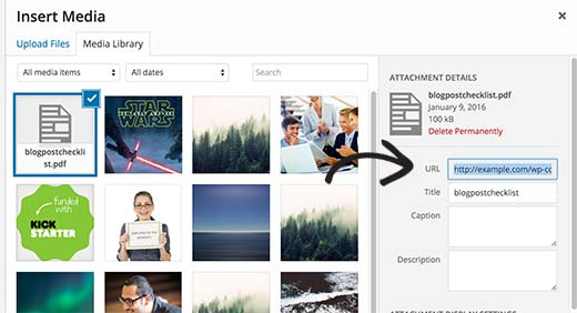 Copy the URL of PDF File