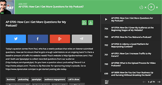 Preview of a full Smart Podcast Player