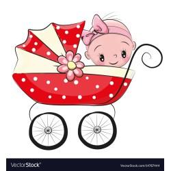 Small Crop Of Baby Girl Cartoon
