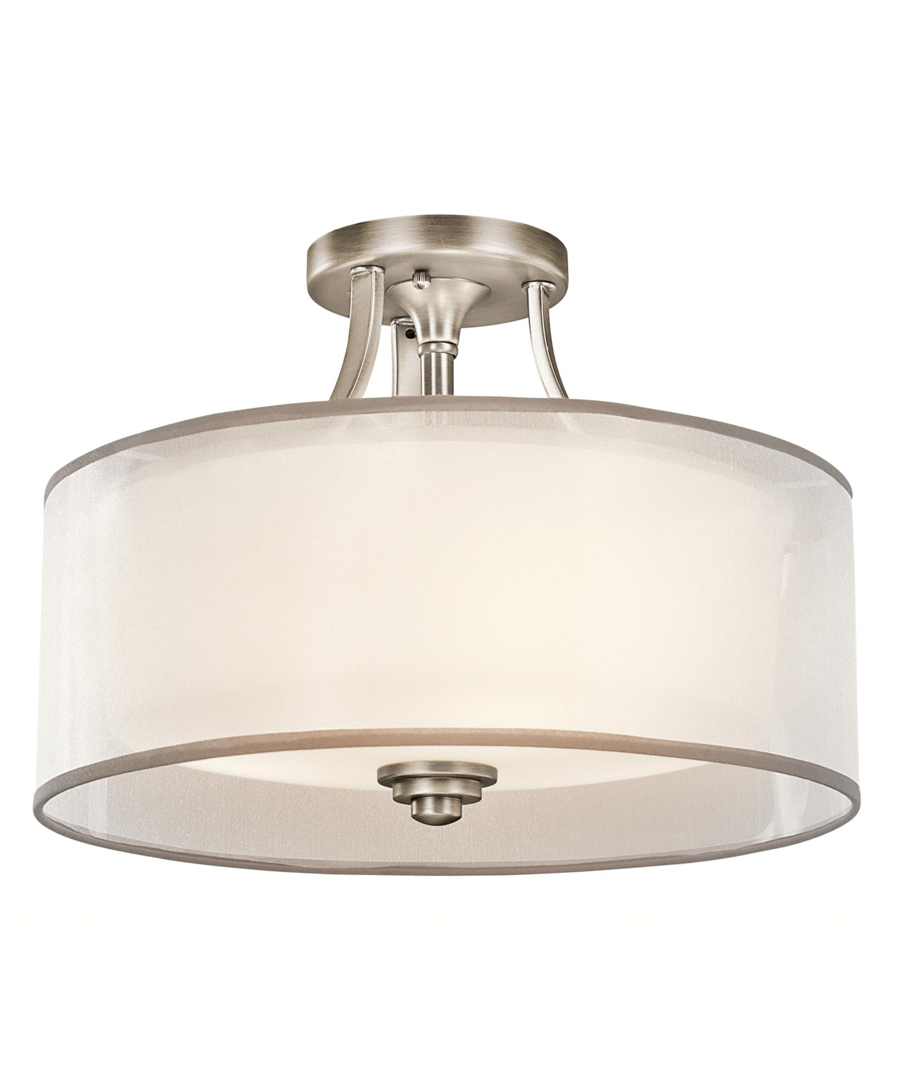 item kitchen flush mount lighting Shown in Antique Pewter finish and Opal Etched glass