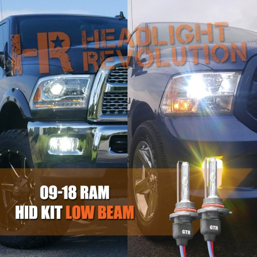2009   2018 Dodge Ram HID Headlights Upgrade   Headlight Revolution Vehicle Specific