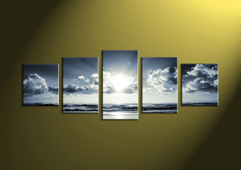Large Of 5 Piece Canvas Art