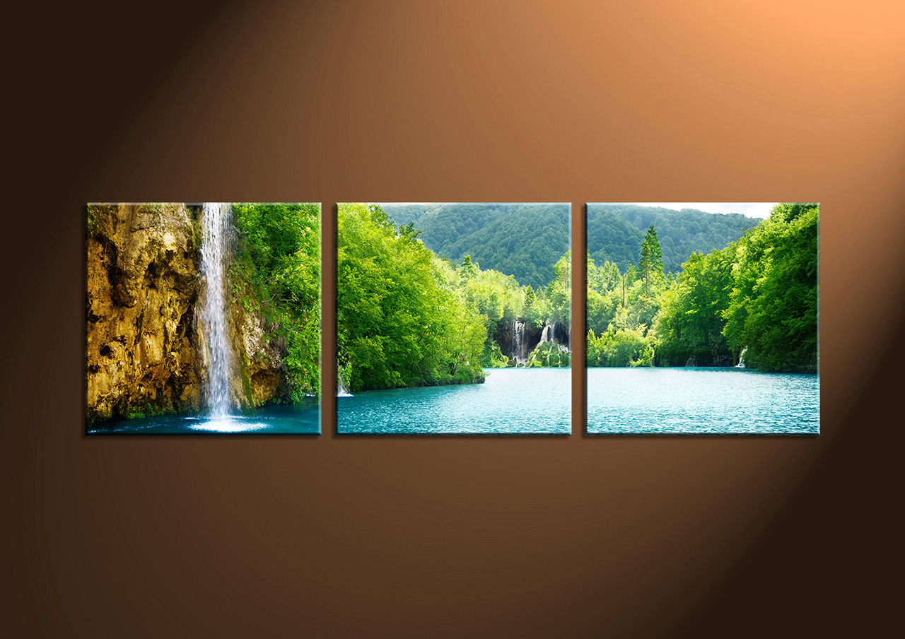 Riveting Home Decor Piece Canvas Art Canvas Sunset Group Piece Ocean Green Multi Panel Canvas Green River Canvas App Elearning Canvas Green River houzz-02 Canvas Green River