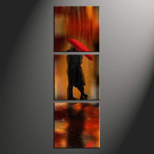 Ritzy 3 Piece Rain Photo Canvas Prints Abstract Umbrella Home Wall Art Decor Vvvart 86815 Art Prints Cheap Art Prints Canada