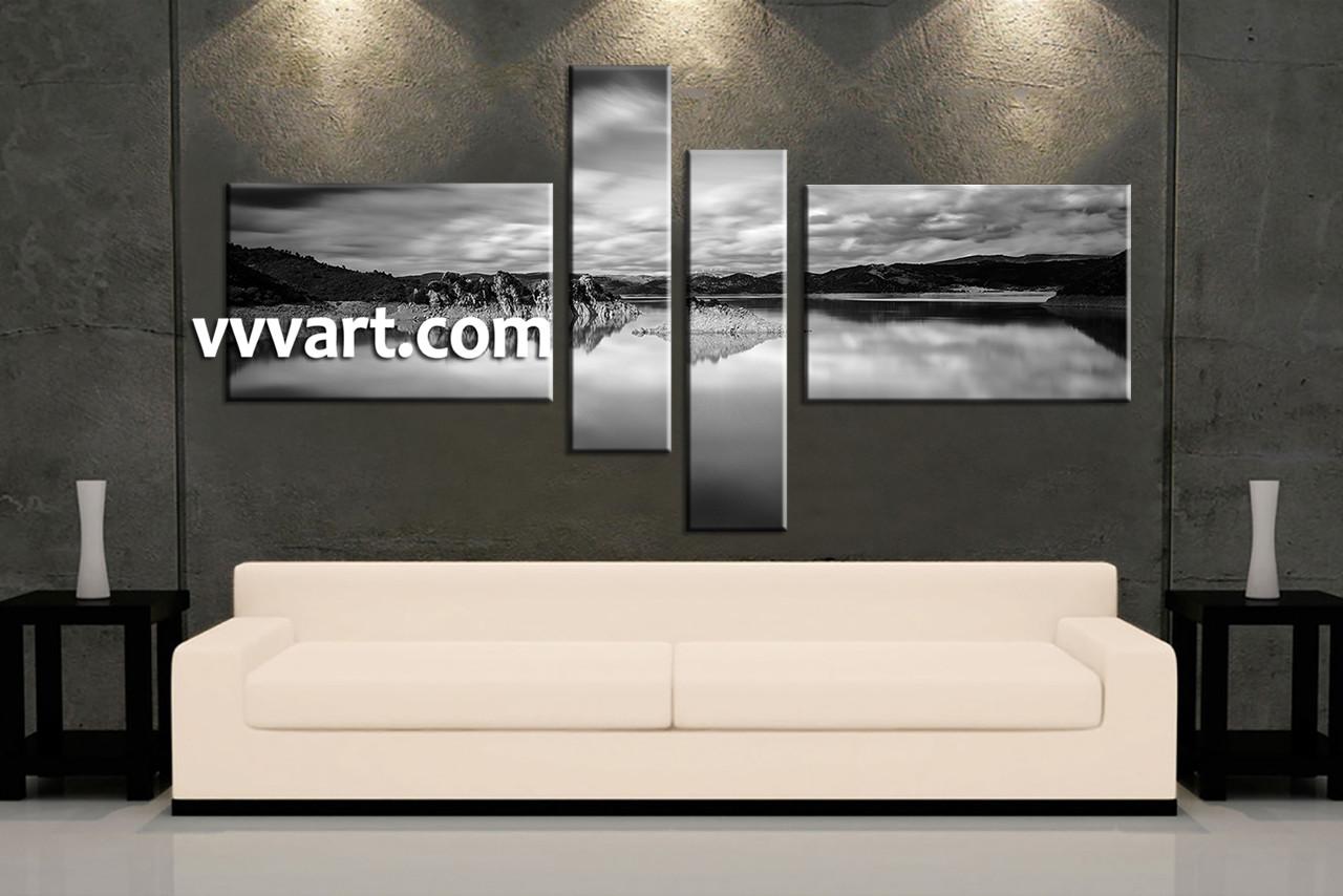 Fullsize Of Black And White Canvas Art