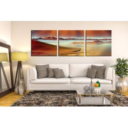 Sweet 3 Piece Huge Canvas Art Ocean Multi Panel Print Sea Photo Canvas Beach Panoramic Large S Mountain Canvas Photography Brown Desert Artwork 4 42732
