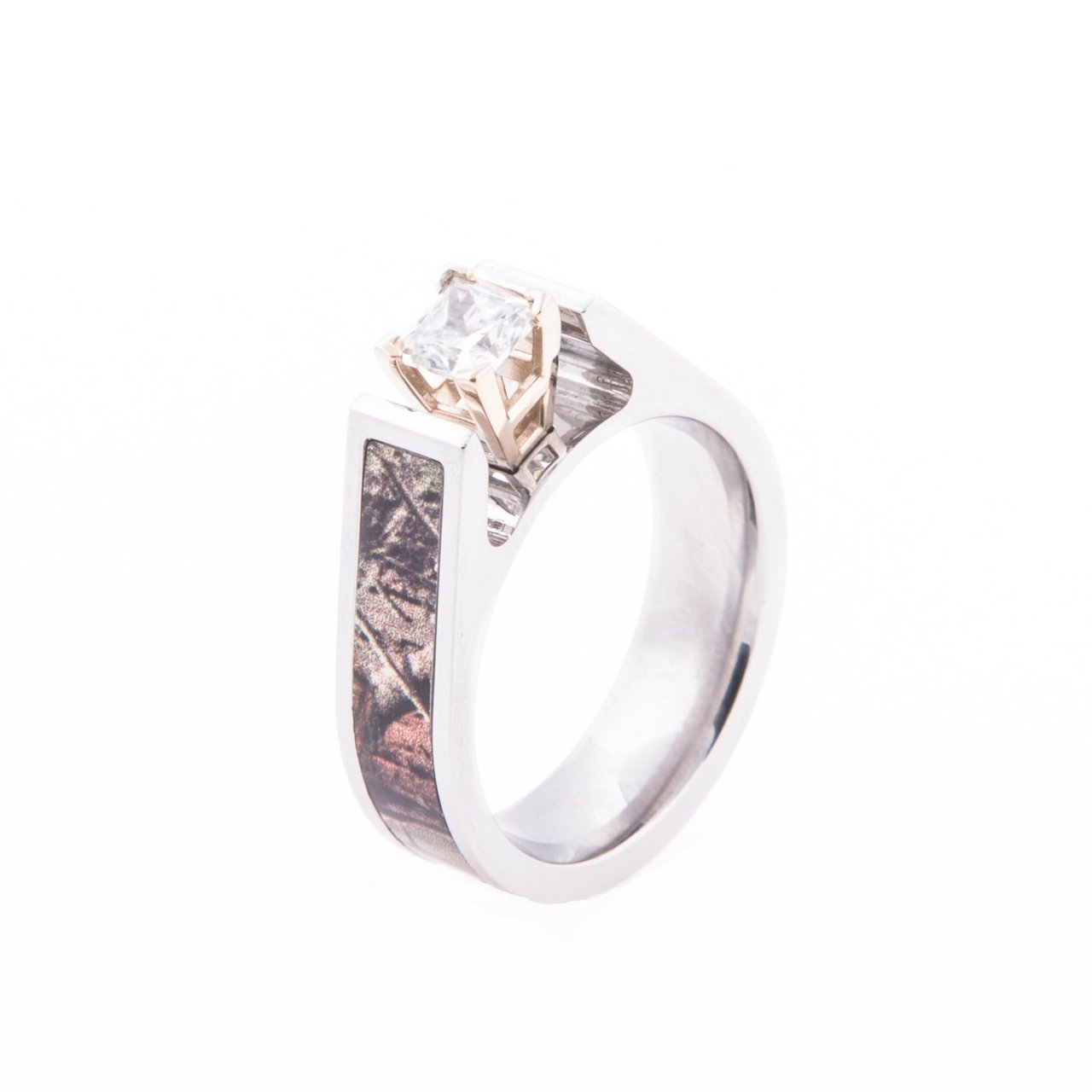 camo engagement wedding ring womens camo wedding rings Women s Cobalt Chrome Cathedral Cut Diamond Camo Engagement Band