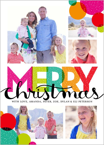 Bright Merry Bubbles Christmas Card
