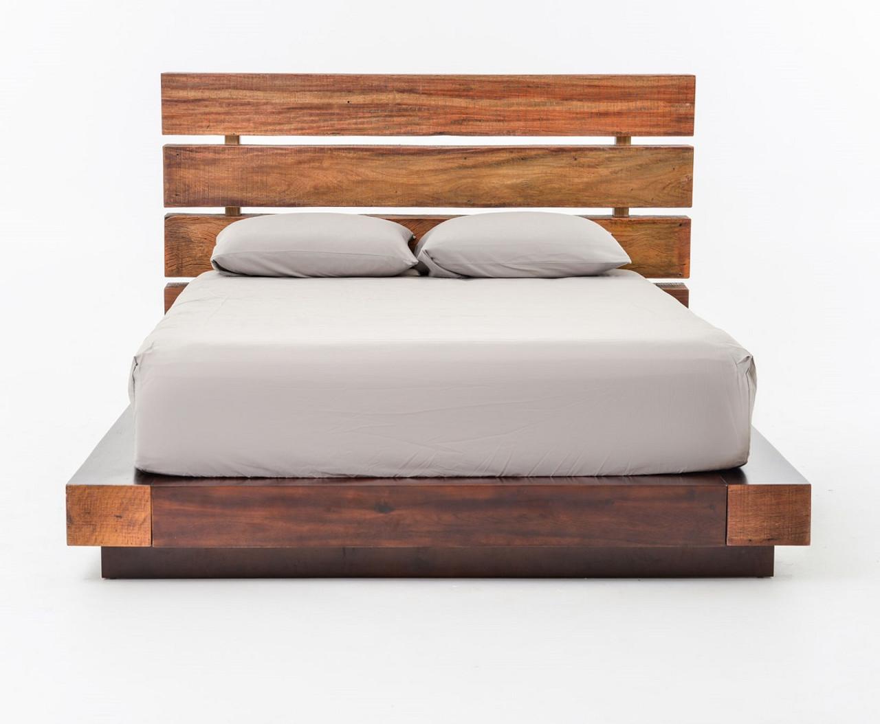 Deluxe Headboard King Platform Bed Iggy King Platform Bed Frame Bina Iggy King Platform Bed Reclaimed Wood Platform Bed Frame King Platform Bed Frame houzz-03 King Platform Bed