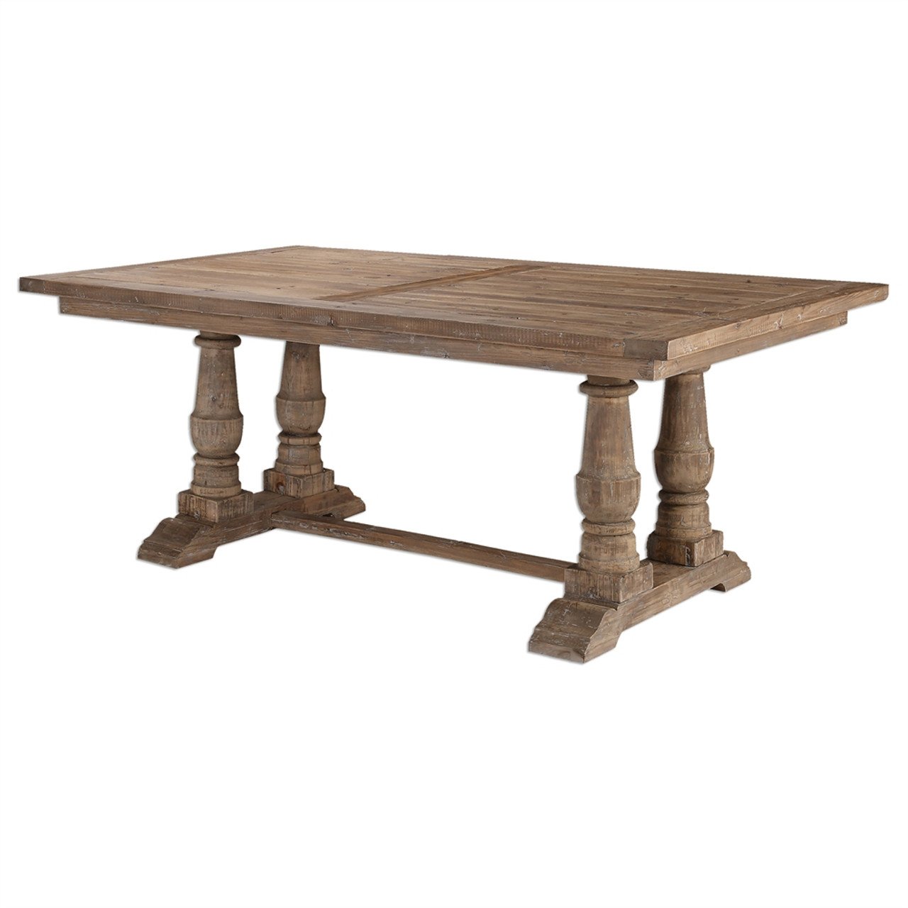 Encouraging Extensions Salvaged Wood Trestle Table Salvaged Wood Trestle Table Zin Home Trestle Table Dimensions Trestle Table houzz-03 Trestle Dining Table