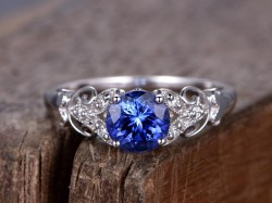 Small Of Blue Sapphire Ring