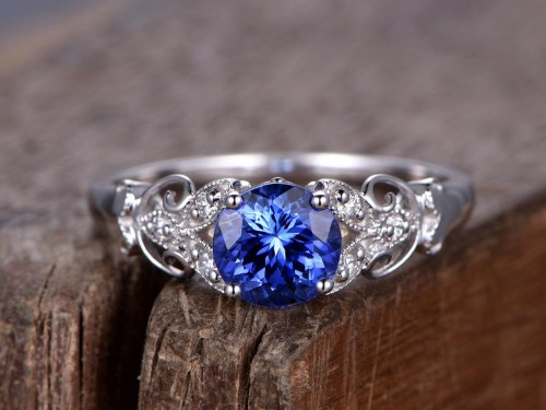 Medium Of Blue Sapphire Ring