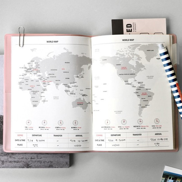 Iconic Wind blows travel planner note   fallindesign com Map   Iconic Wind blows travel planner note