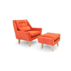 Small Crop Of Plush Chair And Ottoman