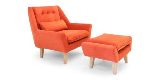 Medium Of Plush Chair And Ottoman