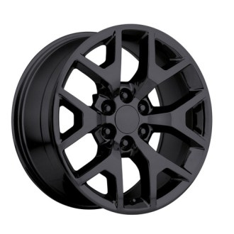 GMC OE Factory Wheels   OEM Replica GMC Rims   Stock Wheel Solutions 20  2014 GMC Sierra Chevy 1500 Silverado Replica Wheels Rims Tire Pkg Gloss  Black Set
